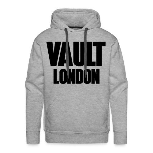 Premium Vault London Logo Black Grey Hoodie - Men's Premium Hoodie