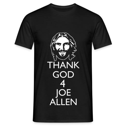 Thank God 4 Allen. Mens Black T-Shirt - Men's T-Shirt