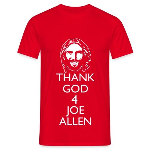 Thank God 4 Allen. Mens Red T-Shirt - Men's T-Shirt