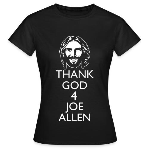 Thank God 4 Allen. Womens Black T-Shirt - Women's T-Shirt