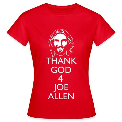Thank God 4 Allen. Womens Red T-Shirt - Women's T-Shirt