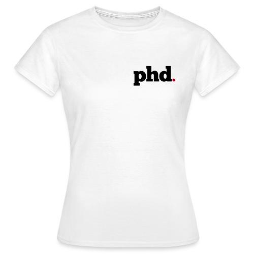 PHD Logo t-shirt (white) - Women's T-Shirt