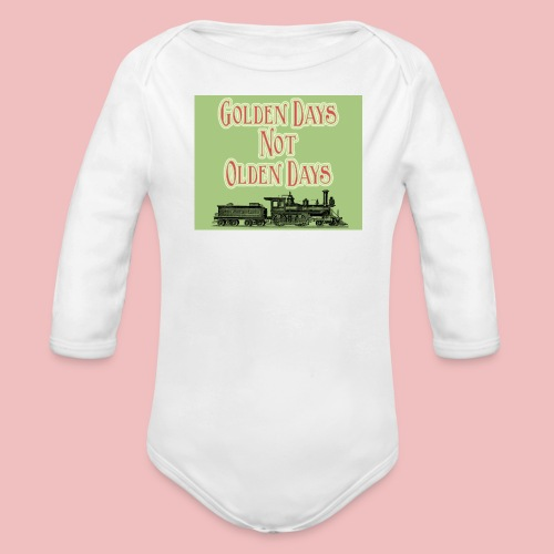 Golden Days - Baby one-piece - Organic Longsleeve Baby Bodysuit
