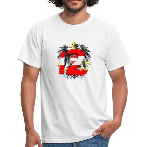 Österreich-Adler 12. Mann - rot-weiß-rot (Männer T-Shirt) - Männer T-Shirt