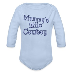 Mummy's little Cowboy - Baby Bio-Langarm-Body