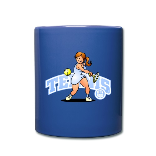 Tennis, Hit'm hard Mugs & Drinkware - Full Colour Mug