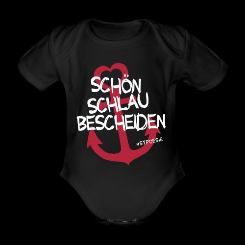 BabybodySchön, schlau, bescheiden - Baby Bio-Kurzarm-Body