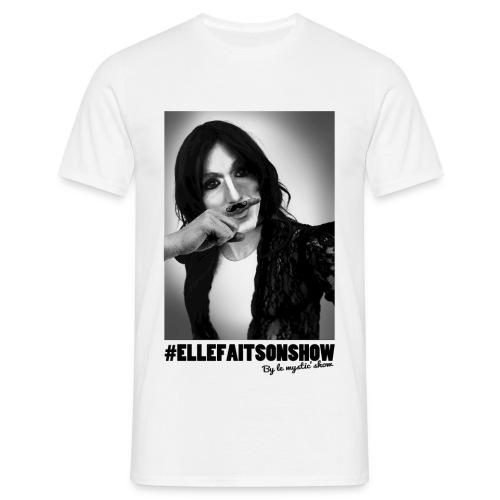 Tee-shirt Moustache Blanc Homme - T-shirt Homme
