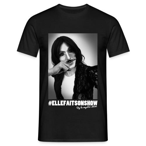 Tee-shirt Moustache Noir homme - T-shirt Homme