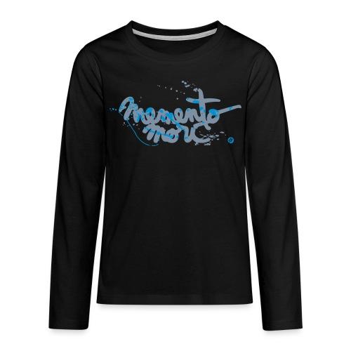 Ado / Memento mori - argent et bleu - T-shirt manches longues Premium Ado