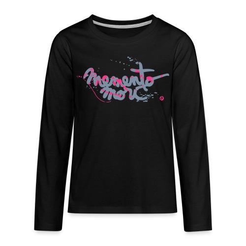Ado / Memento mori - argent et rose néon - T-shirt manches longues Premium Ado