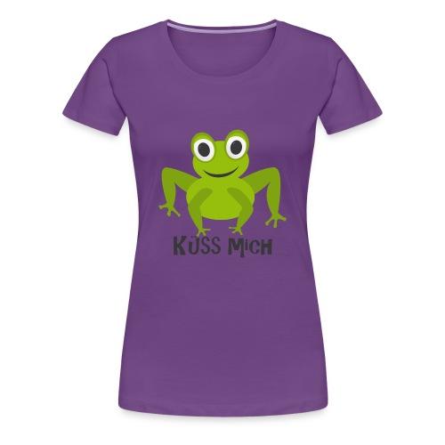 Frosch küss mich | Tierisches Motiv - Frauen Premium T-Shirt