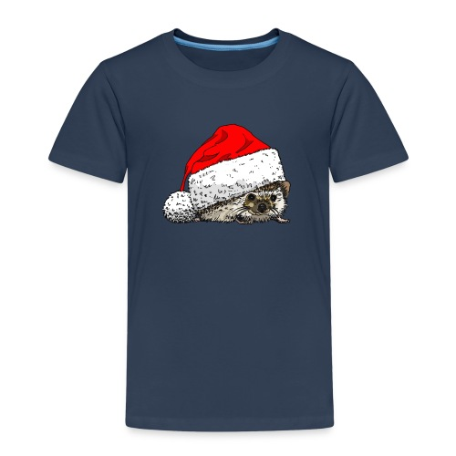 Kids' Premium T-Shirt - Christmas,Hedgehog,Kids,Santa,Wildlife,Xmas,animals,nature