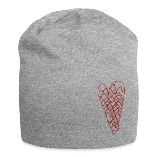 Herz von Aimeé auf grauer Mütze - Jersey-Beanie