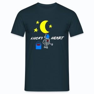 Lucky Heart - Painting the moon - Männer T-Shirt