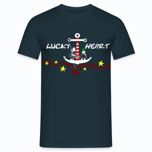Lucky Heart - We sail away - Männer T-Shirt