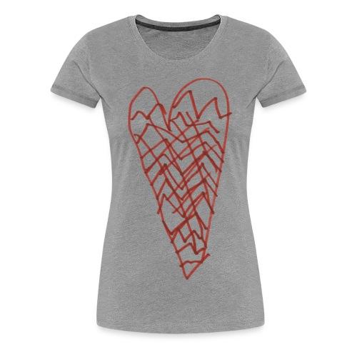 Herz von Aimeé auf grauem Frauenshirt - Frauen Premium T-Shirt