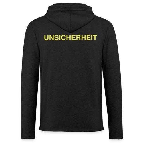 UNSICHERHEIT hoody (gelb auf schwarz) - Leichtes Kapuzensweatshirt Unisex