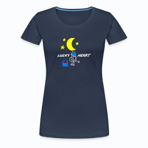 Lucky Heart - Painting the moon - Frauen Premium T-Shirt