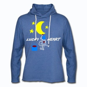 Lucky Heart - Painting the moon - Leichtes Kapuzensweatshirt Unisex