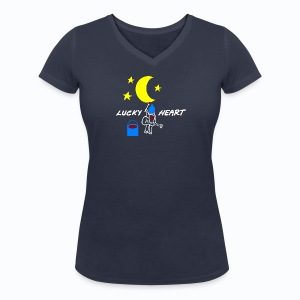 Lucky Heart - Painting the moon - Frauen Bio-T-Shirt mit V-Ausschnitt von Stanley & Stella