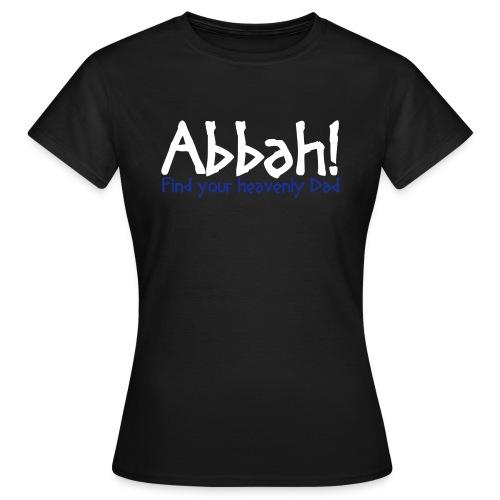 Abbah Schriftzug Front - Woman T-Shirt - Frauen T-Shirt