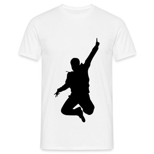 Jumping Man Front - Man T-Shirt - Männer T-Shirt
