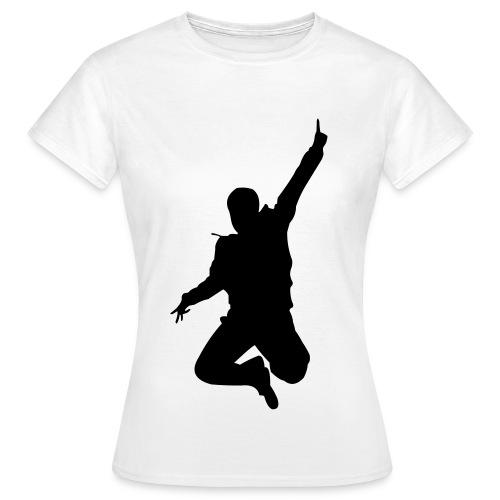 Jumping Man Front - Woman T-Shirt - Frauen T-Shirt
