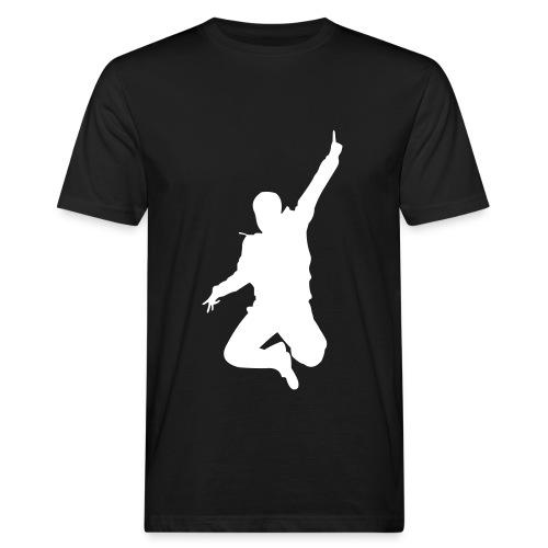 Jumping Man Front - Man Bio T-Shirt - Männer Bio-T-Shirt