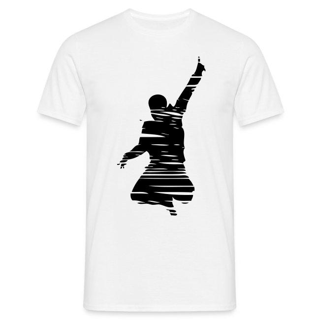 Jumping Man Schraffur Front - Man T-Shirt