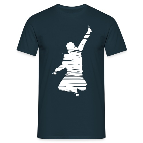 Jumping Man Schraffur Front - Man T-Shirt - Männer T-Shirt