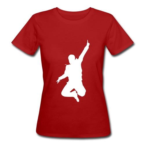 Jumping Man Front - Woman Bio T-Shirt - Frauen Bio-T-Shirt