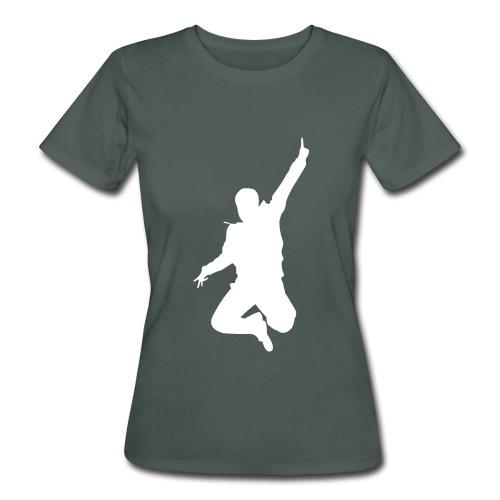 Jumping Man Front - Woman Bio T-Shirt - Frauen Bio-T-Shirt
