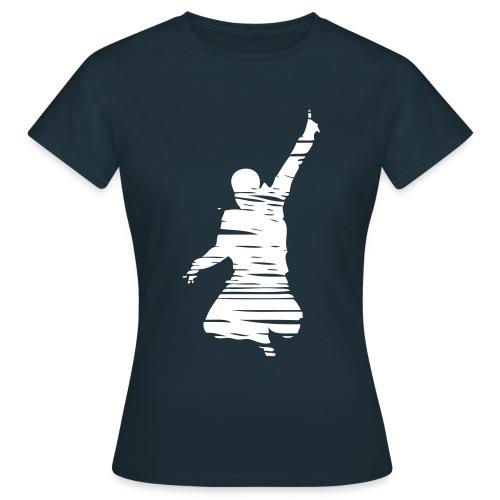 Jumping Man Schraffur Front - Woman T-Shirt - Frauen T-Shirt