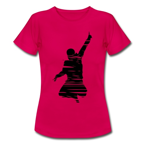 Jumping Man Schraffur Front - Woman T-Shirt - Frauen T-Shirt