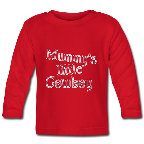 Mummy's little Cowboy - Baby Langarmshirt