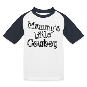 Mummy's little Cowboy - Kinder Baseball T-Shirt