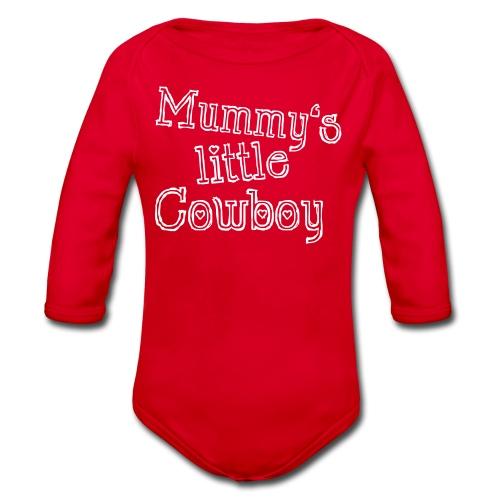 Mummy's little Cowboy - Baby Bio-Langarm-Body
