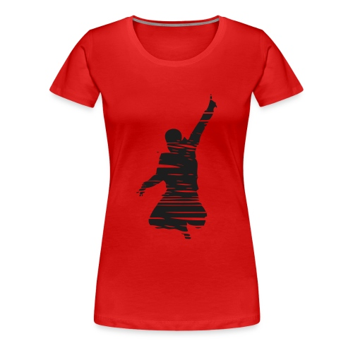 Jumping Man Schraffur Sparkle - Woman T-Shirt - Frauen Premium T-Shirt