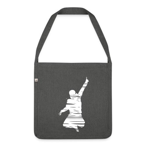 Jumping Man Schraffur - Schultertasche - Schultertasche aus Recycling-Material