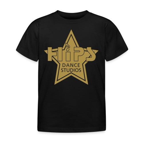 Børne T - Goldstar big - Guldglimmer tryk - Børne-T-shirt