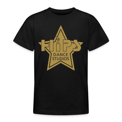 Teenage T - Goldstar big - Guldglimmer tryk - Teenager-T-shirt