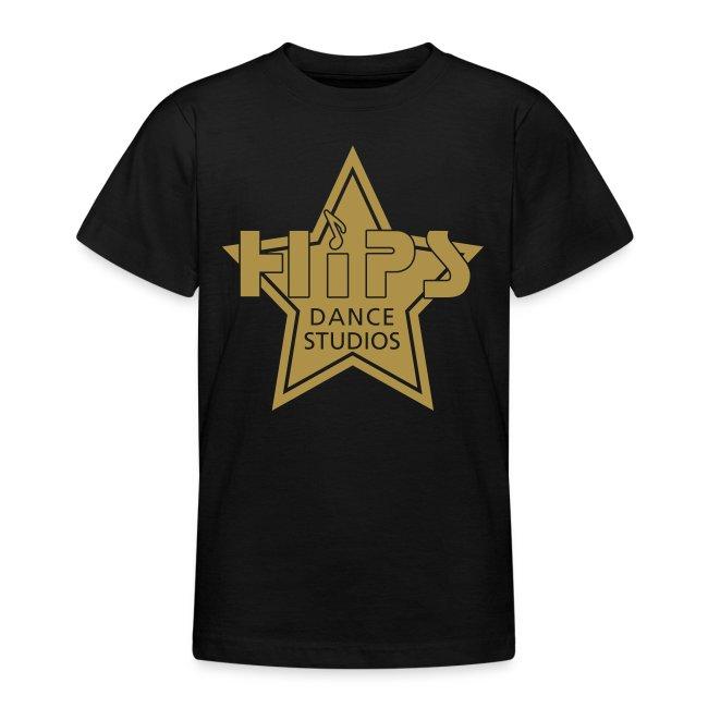 Teenage T - Goldstar big - Guldglimmer tryk