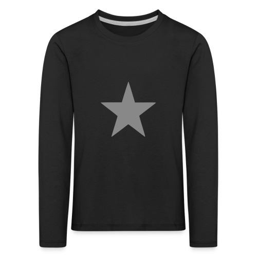 Silver Glitter Star Kids Long Sleeve Top - Kids' Premium Longsleeve Shirt