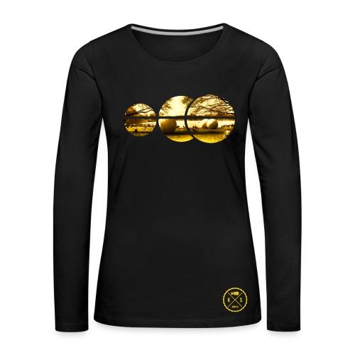 Kalinen Longsleeve Kugeln in Kugeln - Frauen Premium Langarmshirt
