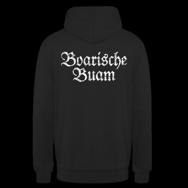 Boarische Buam (Vintage/Weiß) Hoodie
