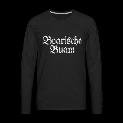 Boarische Buam (Vintage/Weiß) Langarmshirt - Männer Premium Langarmshirt