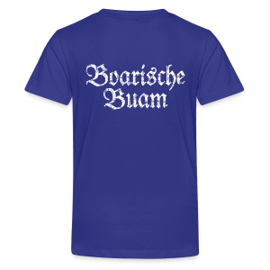 Boarische Buam (Vintage/Weiß) Teenager T-Shirt - Teenager Premium T-Shirt