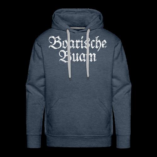 Boarische Buam (Vintage/Weiß) Hoodie - Männer Premium Hoodie