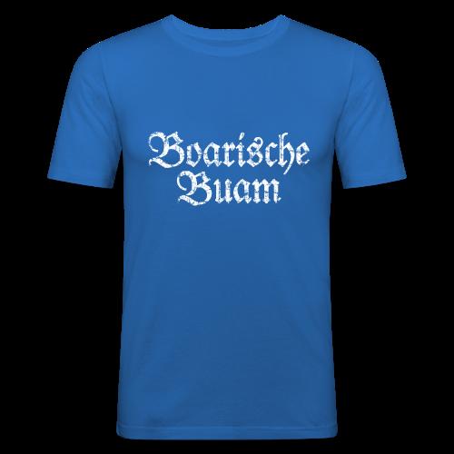 Boarische Buam (Vintage/Weiß) Slim Fit T-Shirt - Männer Slim Fit T-Shirt